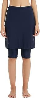 Aunua Women UPF 50+ Swimming Skirt with Legging UV Sun Protection Swim Skort Capris Shorts