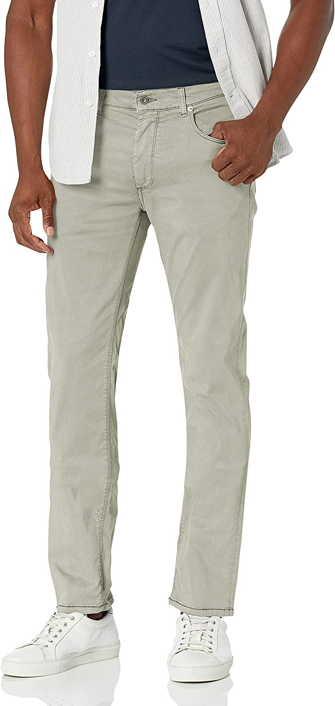 Bugatchi Men's Five Pocket Cotton Stretch Pants 34