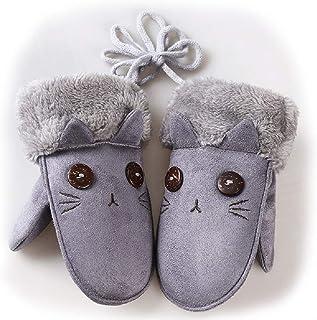 キッズグローブ ミトン 手袋 トグローブ 子供用 可愛い スウェード 保温 防寒 首紐付き 女の子 男の子 通園 通学 アウトドアグローブ アクセサリー 5-10歳に適用