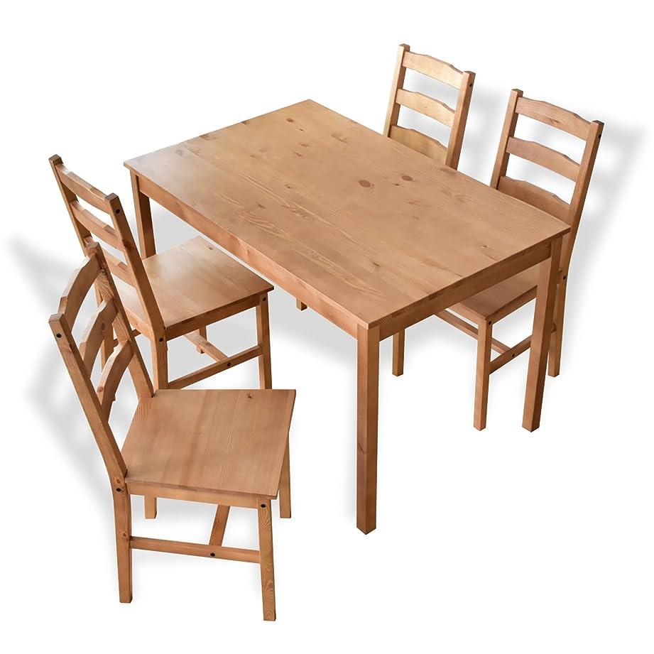 オーストラリア出身地安定したDORIS ダイニングテーブル ダイニングテーブルセット ダイニングセット 幅118 4人掛け チェア 5点セット ブラウン リンド