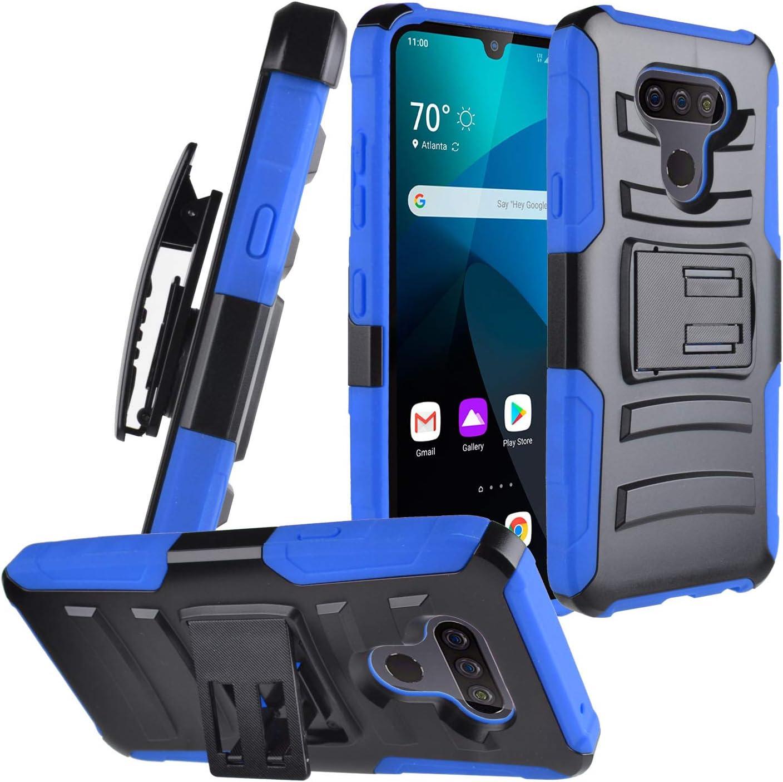 CELZEN - for LG Harmony 4, Xpression Plus 3, LG Premier Pro Plus - Phone Case w/Belt Clip Holster - CV1 Blue