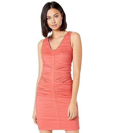 Nicole Miller Solid Cotton Metal Sleeveless Dress (Flamingo) Women