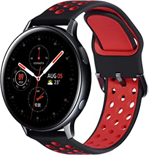 Fullife Compatible with Galaxy Watch 46mm Bands Leather and Silicone Hybrid Sports Band