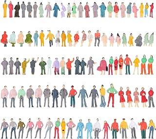TOYANDONA 100pcs Miniature People Figurines Mini Human Figures Scale Model Trains Architectural Plastic People Figures For...
