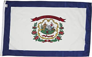 Allied Flag - 4' x 6' Outdoor Nylon West Virginia State Flag - Made in USA - Vivid Color and Fade Resistant - Reinforced Hem and Brass Grommets