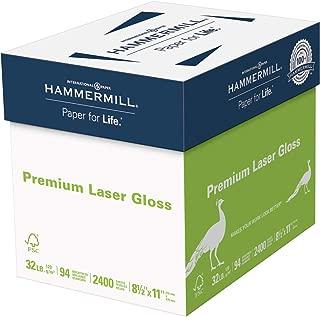 Hammermill Paper, Premium Laser Gloss Paper, 8.5 x 11 Paper, Letter Paper Paper, 32lb, 94 Bright, 8 Packs / 2,400 Sheets (163110C) Acid Free Paper - White