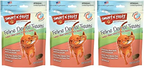 Smart n' Tasty Cat Dental Grain-Free Treats Salmon - 3 Ounces each (Pack of 3)