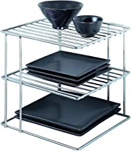Organize It All Chrome Kitchen Corner Shelf, Silver