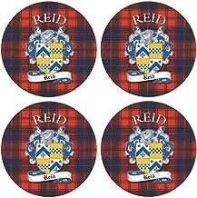 I Luv LTD Reid Clan Escocés Apellido Redondo Cork Backed Portavasos Conjunto de 4