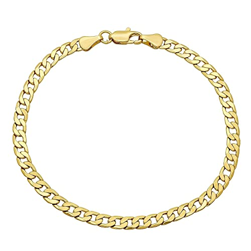 9c23503acf1 14K Gold 5MM Cuban/Curb Link Chain Necklace- Made in Italy- Multiple Lengths