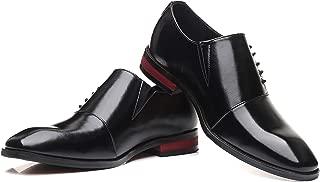 Men's Leather Cap Toe Dress Oxfords Classic Modern Lace Up Tuxedo Formal Walk Shoes