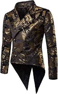 3cac1068db8e04 Comaba Men's Double Breasted Premium Dress Suit Jacket Tuxedo Uniform Outfit