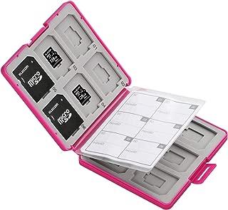 エレコム メモリカードケース SD ケース プラスチック SD12枚 + microSD12枚収納 ピンク CMC-SDCPP24PN