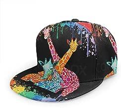 Christmas Love Giraffe Baseball Cap 3D Print Snapback Unisex Adjustable Hip Hop Dad Hat Casual Team Black