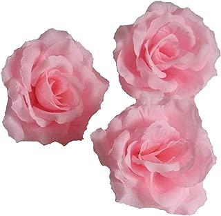Silk Flowers Wholesale 100 Artificial Silk Rose Heads Bulk Flowers 10cm For Flower Wall Kissing Balls Wedding Supplies (Pink)