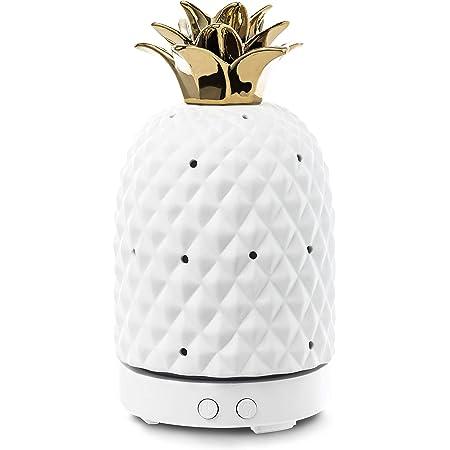 Design Accents Essential Oil Diffuser - Aromatherapy Ceramic Home Decor Cover Aroma Diffuser 100ml, White
