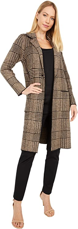 Sharon Plaid Long Blazer Jacket