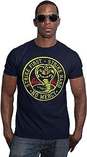 RUL Camiseta Cobra Kai, Serie DE Karate,TV Karate Kit 100% Algodon para LA Camiseta Cobra Kai Unisex (Comprobar Medidas EN...