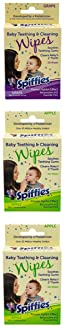 Spiffies ToothWipes, TP50 tripack, 40 Apple, 20 Grape, 60-Wipes