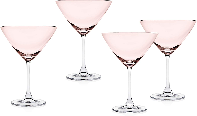 Godinger Manufacturer direct delivery Meridian Martini Beverage Glass Pin Purchase Blush Goblet –