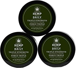 Sponsored Ad - Hemp Daily Intensive Cream | Triple Strength Intensive Hemp Cream with Essential Oils | Vegan, Organic Ingr...
