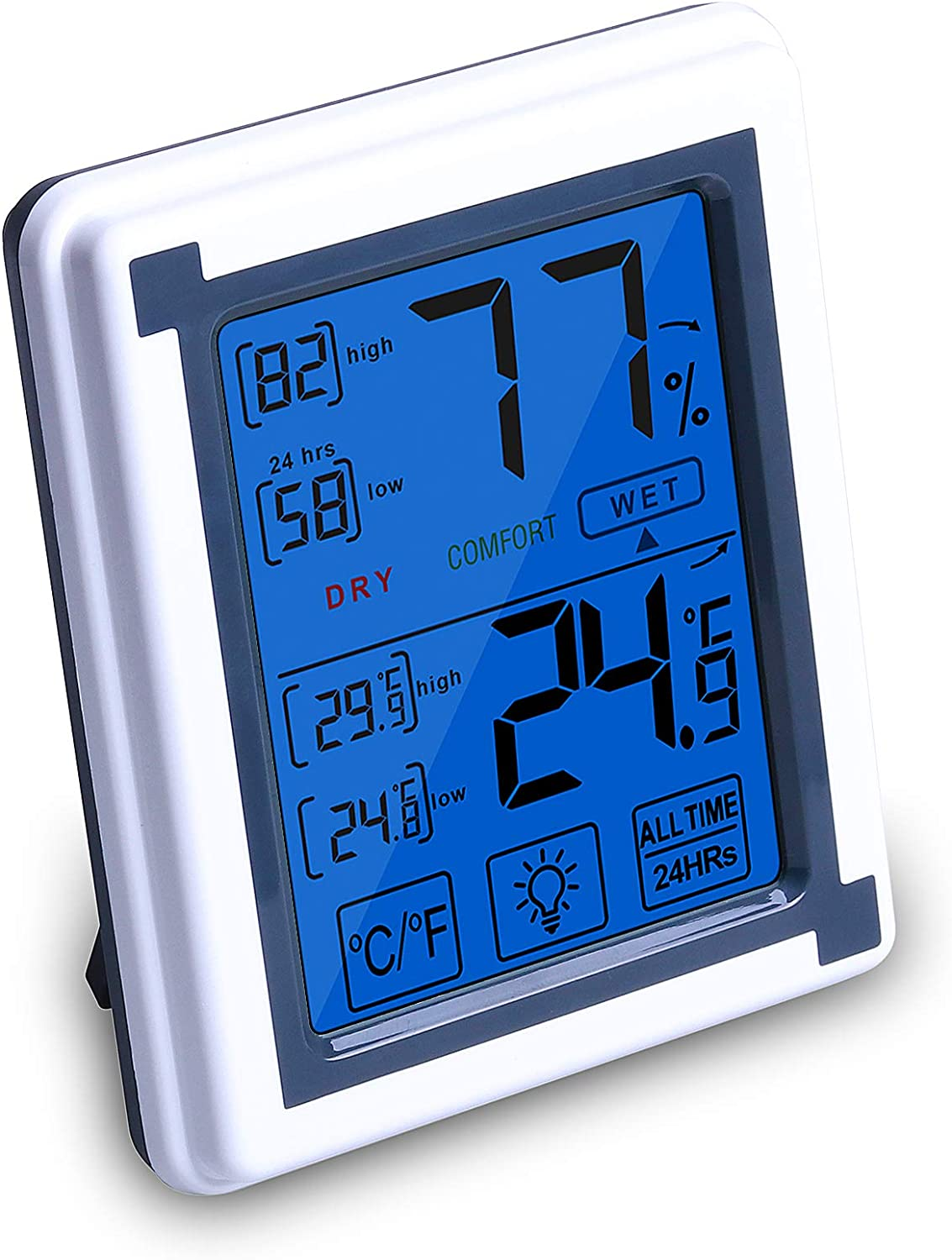 OLRIKE Digital Thermometer Home San Diego Mall Electronic Hygrometer Office Austin Mall wit