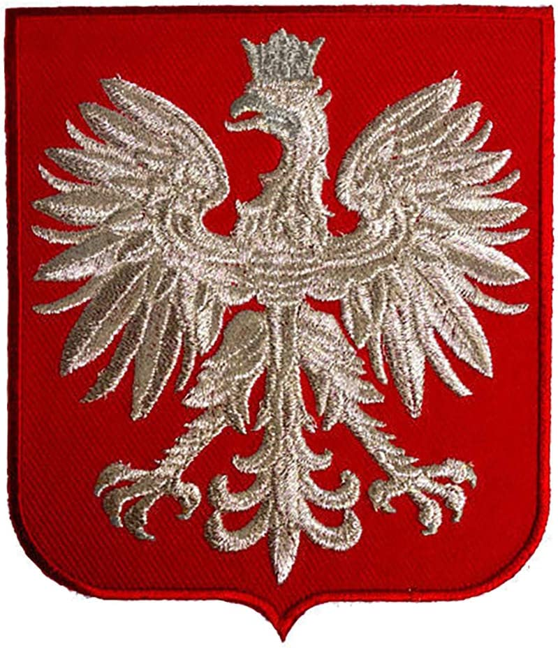 Poland Eagle Polska Coat Of Arms Polish Crest Red Shield Silver Metallic Embroidered Patch By Vegasbee Küche Haushalt