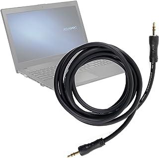 DURAGADGET Cable De Audio Ordenador portátil ASUS P2520SA | P2520LA | HP 255 G4 - con Conexión de 3.5mm Y Bañado En Oro