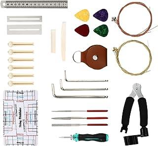 Generic 37Pcs Guitar Tool Kit Guitar Includes String Organizer String Action Ruler Gauge Measuring Tool Hex Wrench Set Fil...