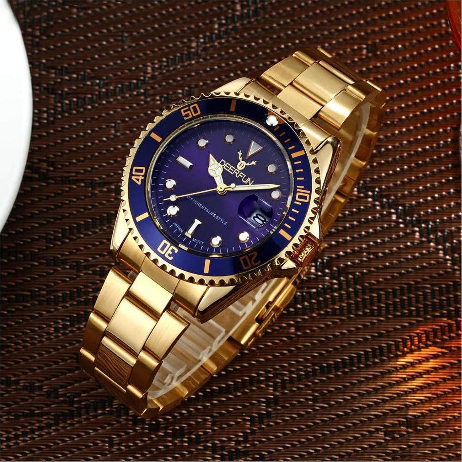 飛行場粗い部分防水腕時計メンズ高級ブランドカジュアルステンレススチールスポーツ腕時計クォーツ腕時計メンズ腕時計 (L)