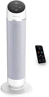 Rowenta Hot & Cool Silent HQ8110 Ventilador, calefactor, y filtra el aire, silencioso 63 db, con modo inteligente, Eco, encendido programable, oscilación electrónica, mando y pantalla táctil