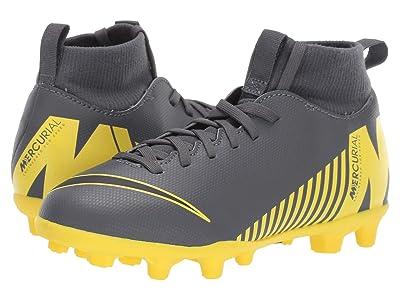Nike Kids Superfly 6 Club MG Soccer (Little Kid/Big Kid) (Dark Grey/Black/Opti Yellow) Kids Shoes
