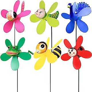 Lot de 6 serviteurs Toddlers plastique Windmill Summer Toys