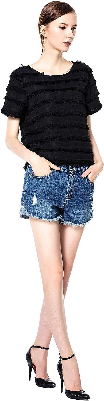 bluee Rainbow Women's Sexy Hot Pants Denim Shorts