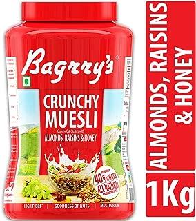 Bagrry's Crunchy Muesli Oat Clusters with Almonds, Raisins & Honey, 1000 GM