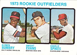 1973 Topps Baseball #614 Dwight Evans Rookie Card - Red Sox