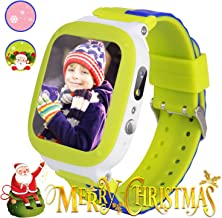 YENISEY Kids Waterproof Smart Watch Anti-Lost (LBS+WiFi),Touch Screen smartwatch with SOS Call Voice Chat Camera Alarm Clock for Girls Boys Toys Gifts (Cyan-Blue)