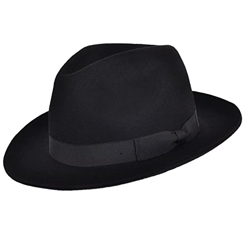 Gladwinbond Gladwin Bond Quality Hand Made Fedora Trilby Hat with Matching  Band 100% Wool abf9697423f6