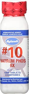 Natural Relief of Joint Pain, Gas, and Indigestion, Hyland's #10 Cell Salt Natrum Phosphoricum 6X Tablets, 1000 Count