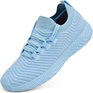 Feetmat Shoes for Women Ultra Lightweight Lace up Workout Sneakers Light Blue 11 M US
