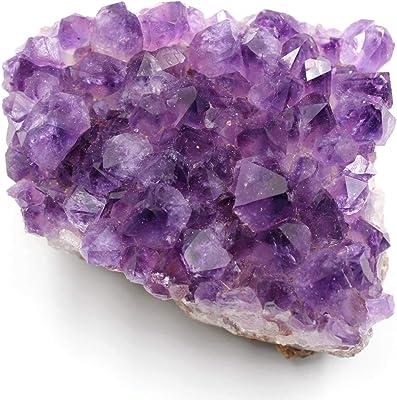 Amazon com: rockcloud Natural Purple Amethyst Quartz Crystal Cluster