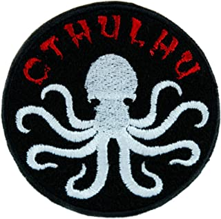 Call of Cthulhu Octopus Elder God Patch Iron on Applique Alternative Clothing DIY