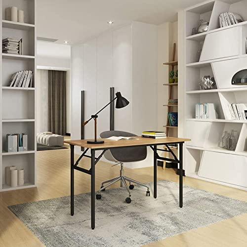 Need Folding Desk for Home Office 100cm Length Modern Folding Table Computer Desk No Install Needed