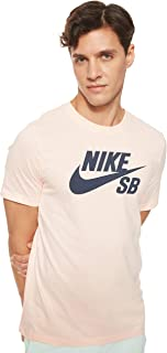 Nike Men's SB Dry Tee DFCT Logo, Orange(Washed Coral/Obsidian664), Medium