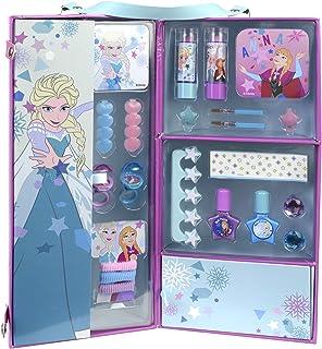 DISNEY FROZEN Carry Me Magical Case Kit Maquillage pour Enfant 2 Rouges à Lèvres 2 Vernis Accessoires