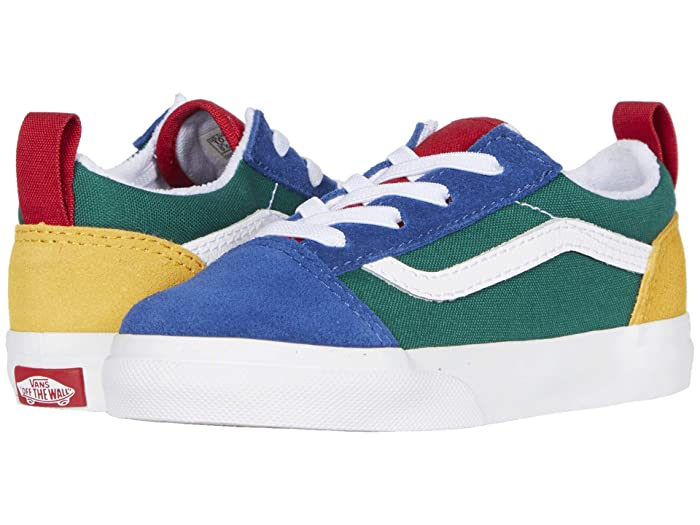 Vans Kids  Old Skool Elastic Lace (Infant/Toddler) ((Vans Yacht Club) Blue/Green/Yellow) Kids Shoes
