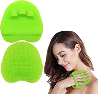 1 Pack Soft Silicone Shower Brush, Body & Face & Short Hair Wash, Bath Exfoliating Skin Massage Scrubber, Dry Skin Brushin...