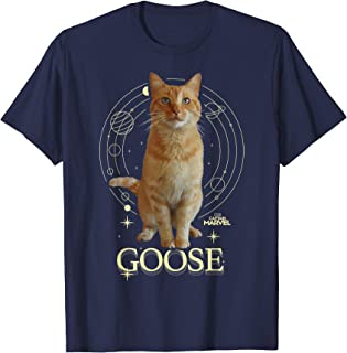 Captain Marvel Goose Full Portrait Space Graphic T-Shirt
