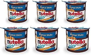 Nutella Hazelnut Spread & Pretzels Sticks &Go! - Pack of 6 Pouch, 6 x 54 g