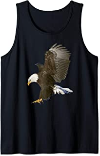 American Bald Eagle Swooping Photo Portrait Tank Top